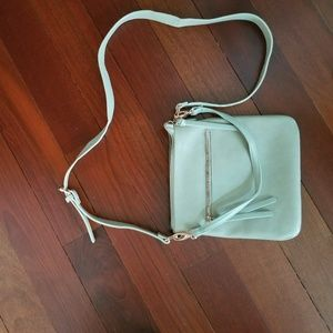 Ivory and rosegold crossbody purse